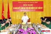 Lực lượng vũ trang Hà Tĩnh tích cực tham gia phòng chống, khắc phục thiên tai