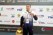 """""""Kình ngư"""" Hà Tĩnh giành huy chương đầu tiên tại Para Games 9"""