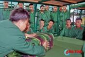 Lính trẻ Trung đoàn 841 hòa nhập nhanh với môi trường quân ngũ