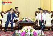 Đoàn các nhà đầu tư Đài Loan chào xã giao Bí thư Tỉnh ủy