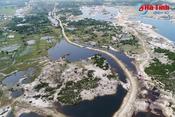 Flycam: Cảnh hoang tàn vùng mỏ sắt Thạch Khê - Hà Tĩnh