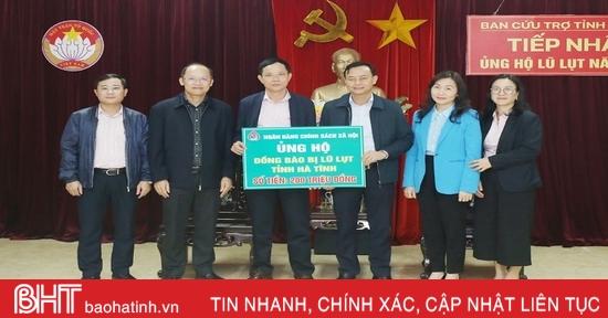 1.105 tổ chức, cá nhân ủng hộ đồng bào vùng lũ Hà Tĩnh hơn 74 tỷ đồng
