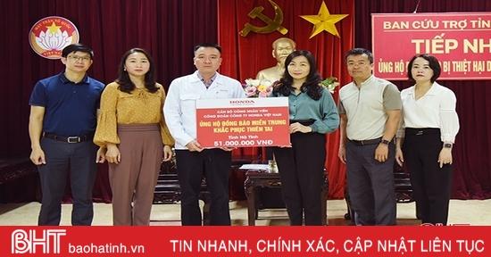 3.380 tổ chức, cá nhân ủng hộ đồng bào vùng lũ Hà Tĩnh hơn 211 tỷ đồng