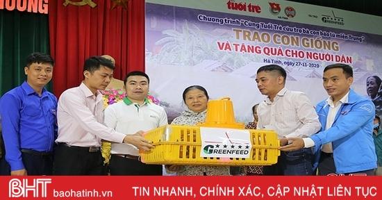 430 suất quà đến với người dân bị ngập lũ ở Thạch Hà