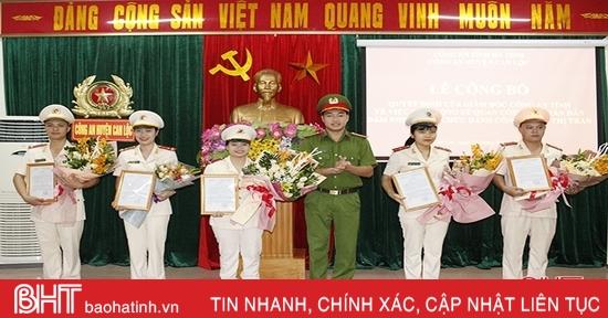 5 nữ công an chính quy xung phong về xã ở Can Lộc