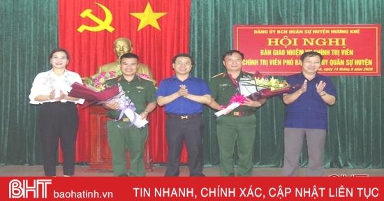 Ban CHQS huyện Hương Khê có tân Chính trị viên và Chính trị viên phó