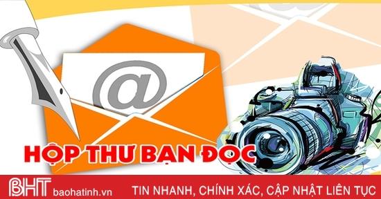 Báo Hà Tĩnh tổng hợp hộp thư bạn đọc tuần từ 21 - 27/12
