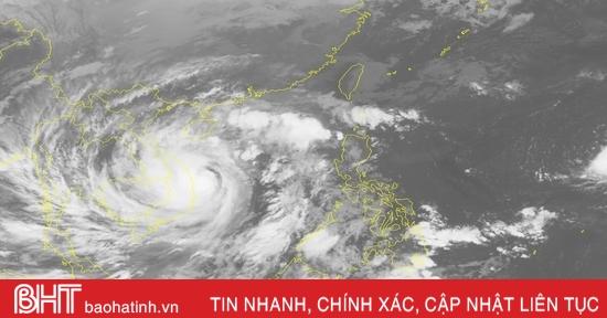 Bão số 9 cách Quảng Ngãi 60km, khu vực Nam Hà Tĩnh gió giật cấp 7