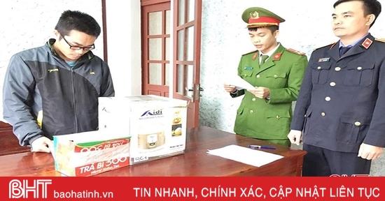 Bắt quả tang 2 vụ vận chuyển pháo lậu trên địa bàn Cẩm Xuyên, Hương Khê