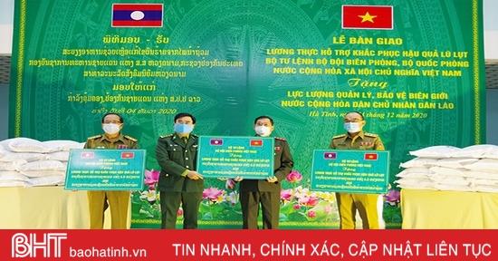 Biên phòng Việt Nam hỗ trợ 75 tấn gạo cho lực lượng quản lý, bảo vệ biên giới Lào