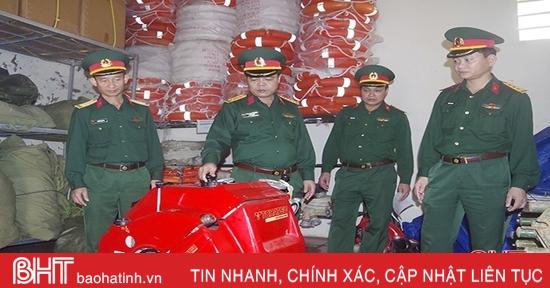 Bộ CHQS Hà Tĩnhtriển khai 100% quân số, sẵn sàng ứng phó với bão số 9