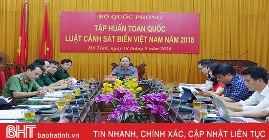 Bộ Quốc phòng tổ chức tập huấn Luật Cảnh sát biển Việt Nam năm 2018
