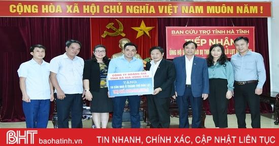Các cơ quan, doanh nghiệp tỉnh Bà Rịa - Vũng Tàu hỗ trợ Hà Tĩnh 15 căn nhà tránh trú bão lụt