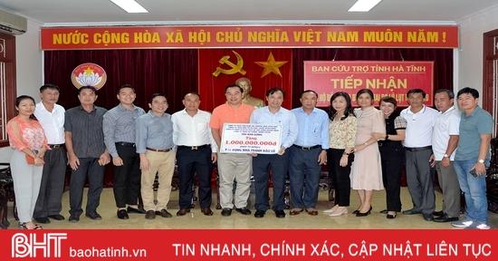 Các doanh nghiệp Bình Dương ủng hộ Hà Tĩnh hơn 2,4 tỷ đồng khắc phục hậu quả mưa lũ
