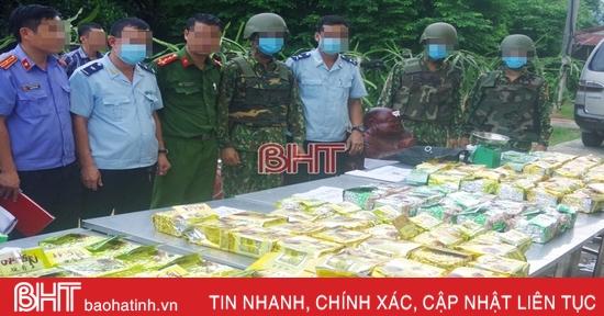 Các lực lượng biên phòng, công an ở Hà Tĩnh phối hợp phá chuyên án lớn, thu hơn 237 kg ma túy các loại