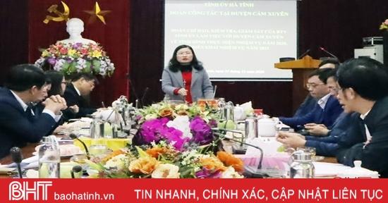 Cẩm Xuyên hoàn thành vượt kế hoạch 19/24 chỉ tiêu KT-XH năm 2020