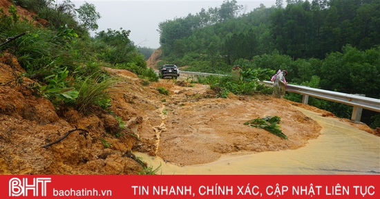 Cảnh báo 3 huyện miền núi Hà Tĩnh có nguy cơ cao sạt lở đất