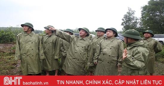 Chủ tịch UBND tỉnh Hà Tĩnh: Theo dõi sát diễn biến mưa lũ, chủ động ứng phó nguy cơ sạt lở đất