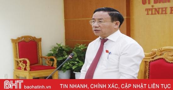 Chuẩn bị kỹ, đảm bảo chất lượng các nội dung trình kỳ họp cuối năm HĐND tỉnh Hà Tĩnh