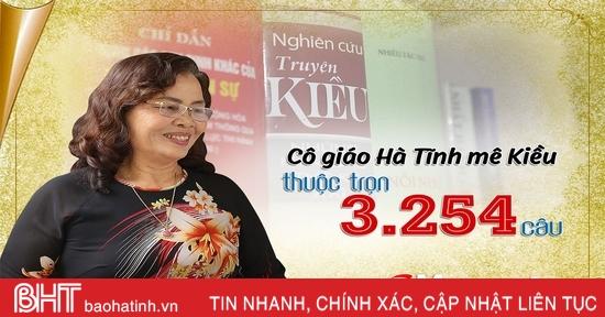Cô giáo Hà Tĩnh mê Kiều, thuộc trọn 3.254 câu