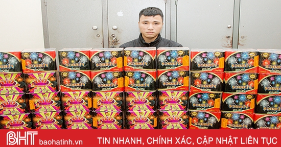 Công an Hà Tĩnh liên tiếp bắt giữ các đối tượng buôn bán pháo nổ