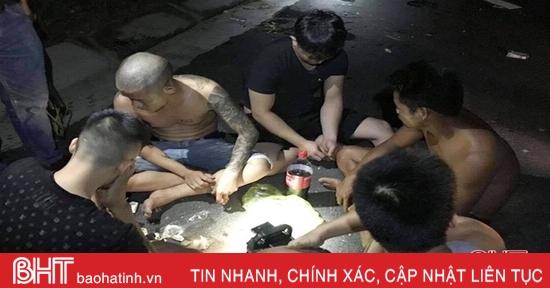 Công an Lộc Hà liên tiếp bắt 9 đối tượng sử dụng ma túy trong đêm vắng