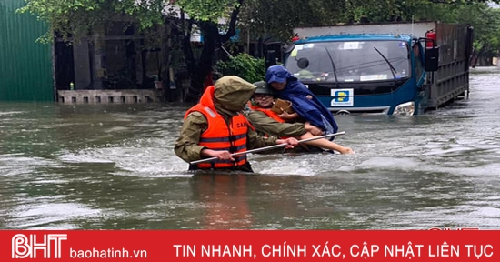 Công an TP Hà Tĩnh khuyến cáo người dân hạn chế đi lại khu vực nước sâu