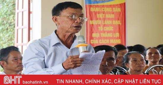 Cử tri Can Lộc kiến nghị có chính sách phát triển kinh tế nông nghiệp