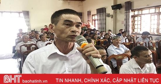 Cử tri Hương Sơn, Đức Thọ gửi tâm nguyện đến với Quốc hội, đại biểu HĐND Hà Tĩnh