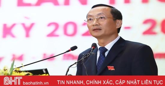 Đại hội Đại biểu Đảng bộ Hà Tĩnh lần thứ XIX nghe chỉ đạo ứng phó diễn biến phức tạp của mưa lũ