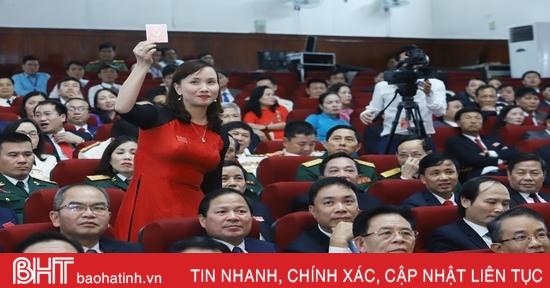 Đại hội Đại biểu Đảng bộ tỉnh Hà Tĩnh lần thứ XIX bầu Ban Chấp hành nhiệm kỳ mới