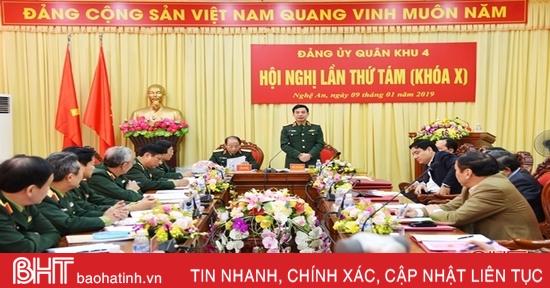 đảng ủy Quan Khu 4 Ra Nghị Quyết Lanh đạo Thực Hiện Nhiệm Vụ Năm 2019