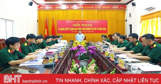 Đảng ủy Quân sự Hà Tĩnh đẩy mạnh đợt thi đua cao điểm chào mừng Đại hội Đảng bộ tỉnh lần thứ XIX
