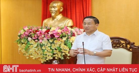 Dồn sức cao nhất cho công tác chuẩn bị Đại hội Đảng bộ Hà Tĩnh lần thứ XIX