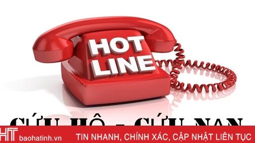 Đường dây nóng thường trực phòng chống thiên tai các địa phương Hà Tĩnh