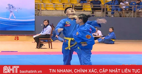 Gay cấn màn võ thuật tại Giải Vô địch Vovinam toàn quốc tổ chức tại Hà Tĩnh