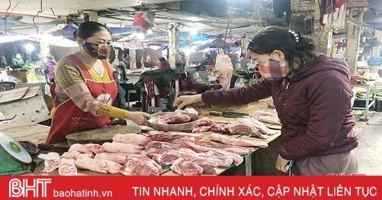 Giá thịt lợn tại chợ dân sinh Hà Tĩnh thấp nhất trong năm