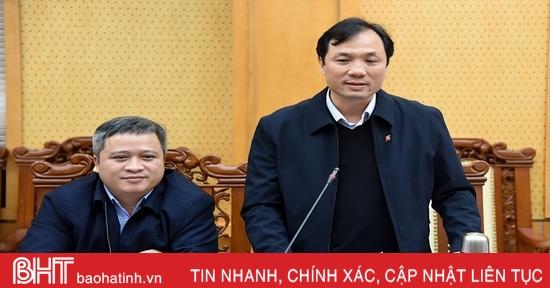Hà Tĩnh đề xuất Chính phủ sớm phê duyệt quy hoạch tỉnh thời kỳ 2021-2030, tầm nhìn đến năm 2050
