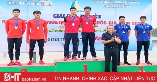 Hà Tĩnh giành 4 huy chương ngày đầu Giải Đua thuyền vô địch quốc gia