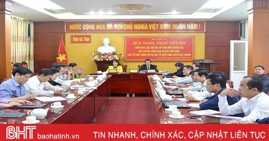 Hà Tĩnh tham gia triển khai nội dung một số bộ luật quan trọng do Bộ Nội vụ tổ chức