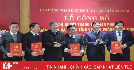 Hà Tĩnh thành lập Văn phòng Đoàn ĐBQH và HĐND tỉnh, Văn phòng UBND tỉnh