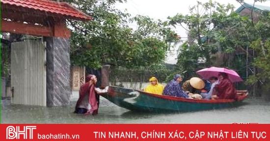 Hà Tĩnh tiếp tục có mưa rất to trong 1 - 3 giờ tới