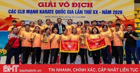 Hà Tĩnh xếp thứ 4/41 toàn đoàn Giải Vô địch các CLB mạnh karate toàn quốc