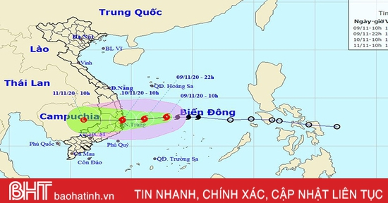 Hoàn lưu bão kết hợp với không khí lạnh sẽ gây mưa to ở Hà Tĩnh