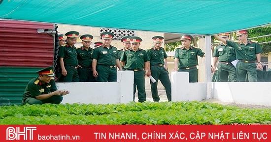 Hoạt động tăng gia sản xuất tại Trung đoàn 841 Hà Tĩnh được đánh giá cao