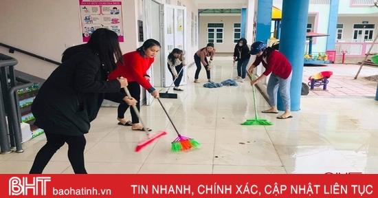 Học sinh 208 trường học ở Cẩm Xuyên, Thạch Hà và TP Hà Tĩnh tiếp tục nghỉ học