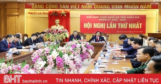 Hội nghị lần thứ nhất Ban Chấp hành Đảng bộ tỉnh Hà Tĩnh khóa XIX