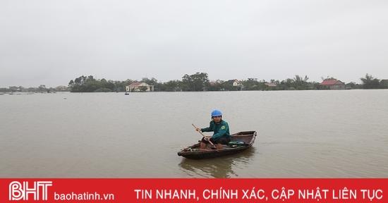 Hơn 300 ha nuôi trồng thủy sản và hàng trăm héc-ta hoa màu ở Can Lộc bị thiệt hại