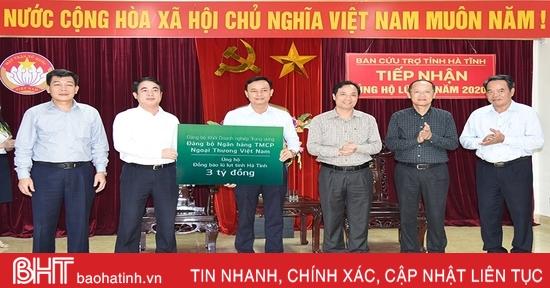 Hơn 85 tỷ đồng ủng hộ đồng bào Hà Tĩnh bị ảnh hưởng lũ lụt