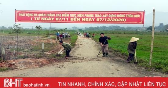 Hừng hực khí thế ra quân xây dựng nông thôn mới ở Hương Sơn